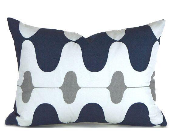 Outdoor Lumbar Pillow Decorative Pillow Cover Navy Pillow Navy Blue Gorgeous Decorative Outdoor Lumbar Pillows