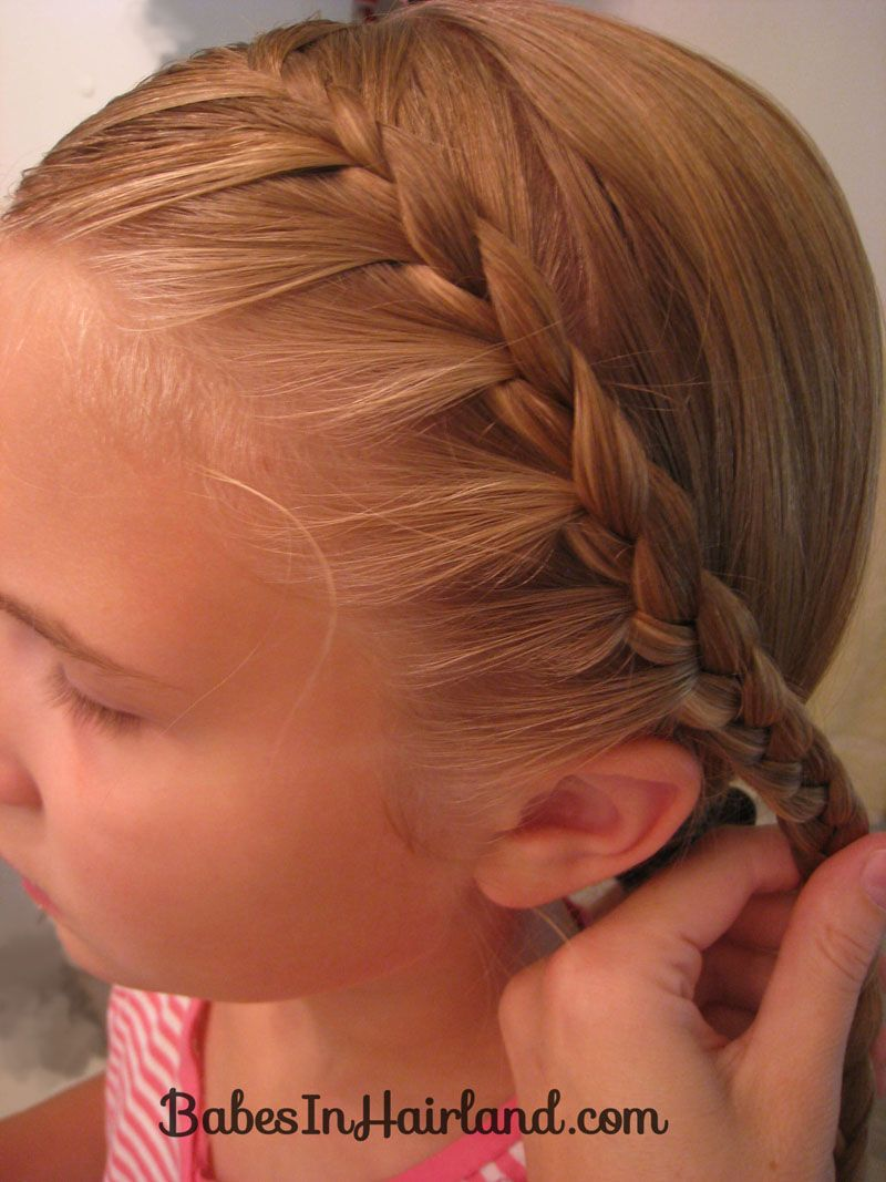 Half french braid into a fishbone girly stuff hair pinterest