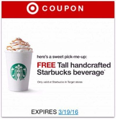 starbucks free drink at target awesome freebie coupon latest