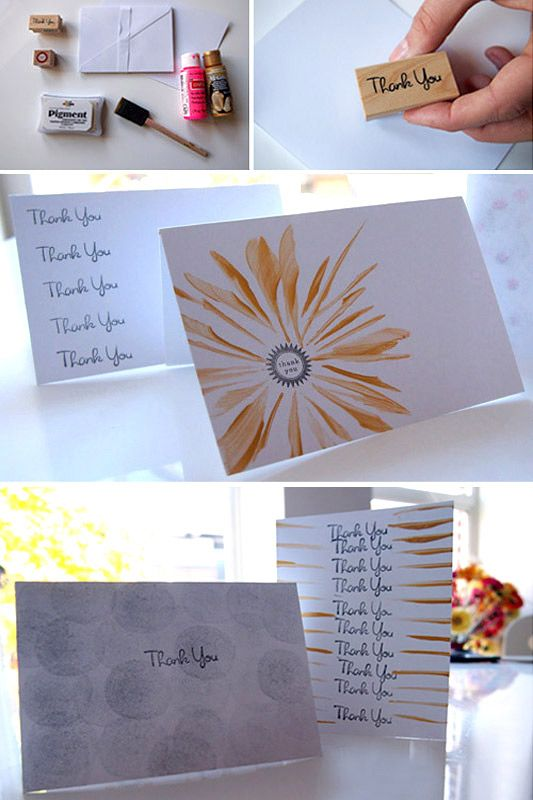love these simple thank you note ideas  diy note cards