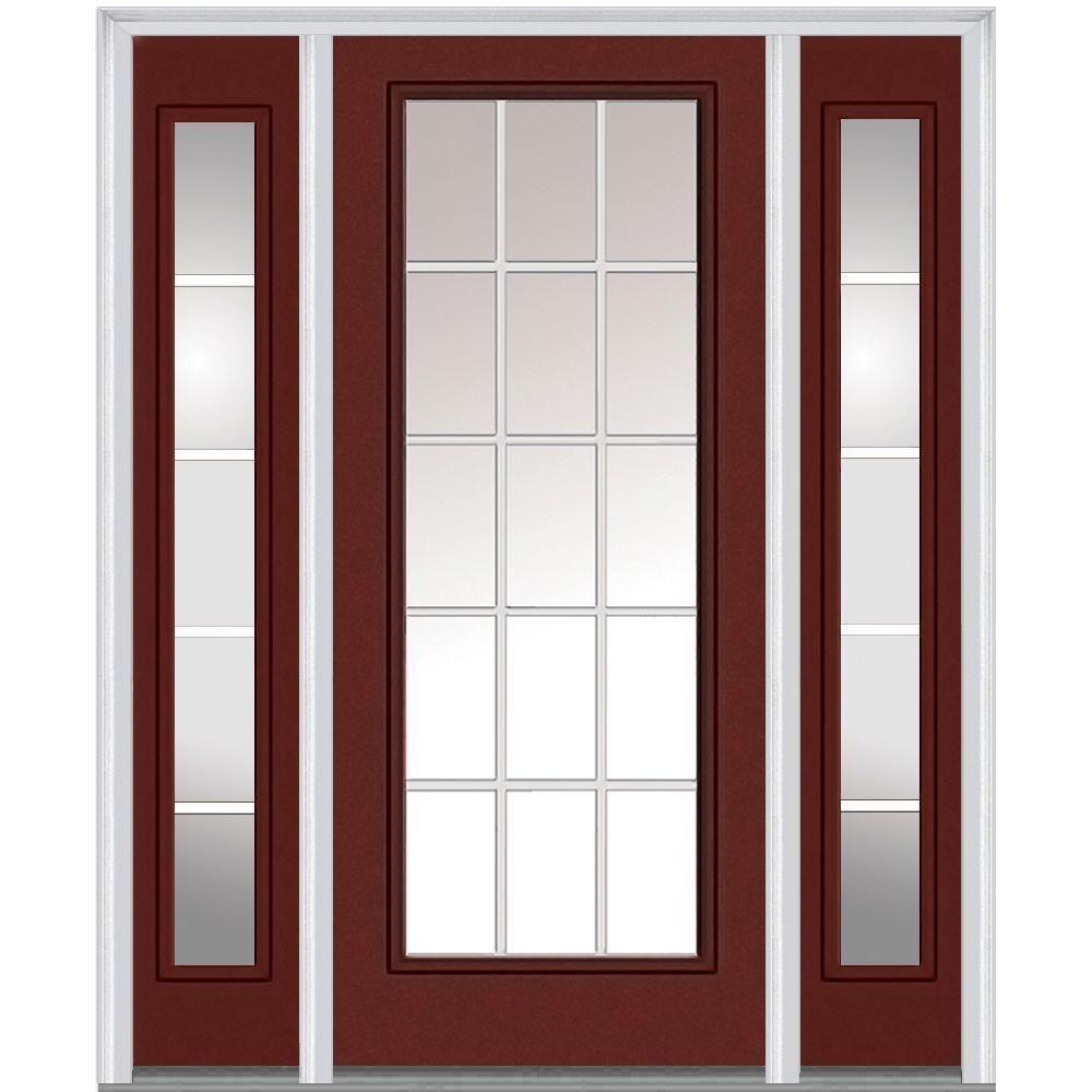 Mmi Door 60 In X 80 In Gbg Left Hand Full Lite Classic Painted