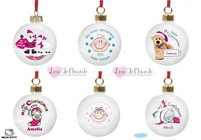 Personalised #baby's 1st #christmas tree bauble first xmas keepsake #gift/present,  View more on the LINK: http://www.zeppy.io/product/gb/2/272050763489/