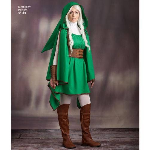 Simplicity Sewing Pattern 8199 -Nintendo Link Costume-Legend of ...
