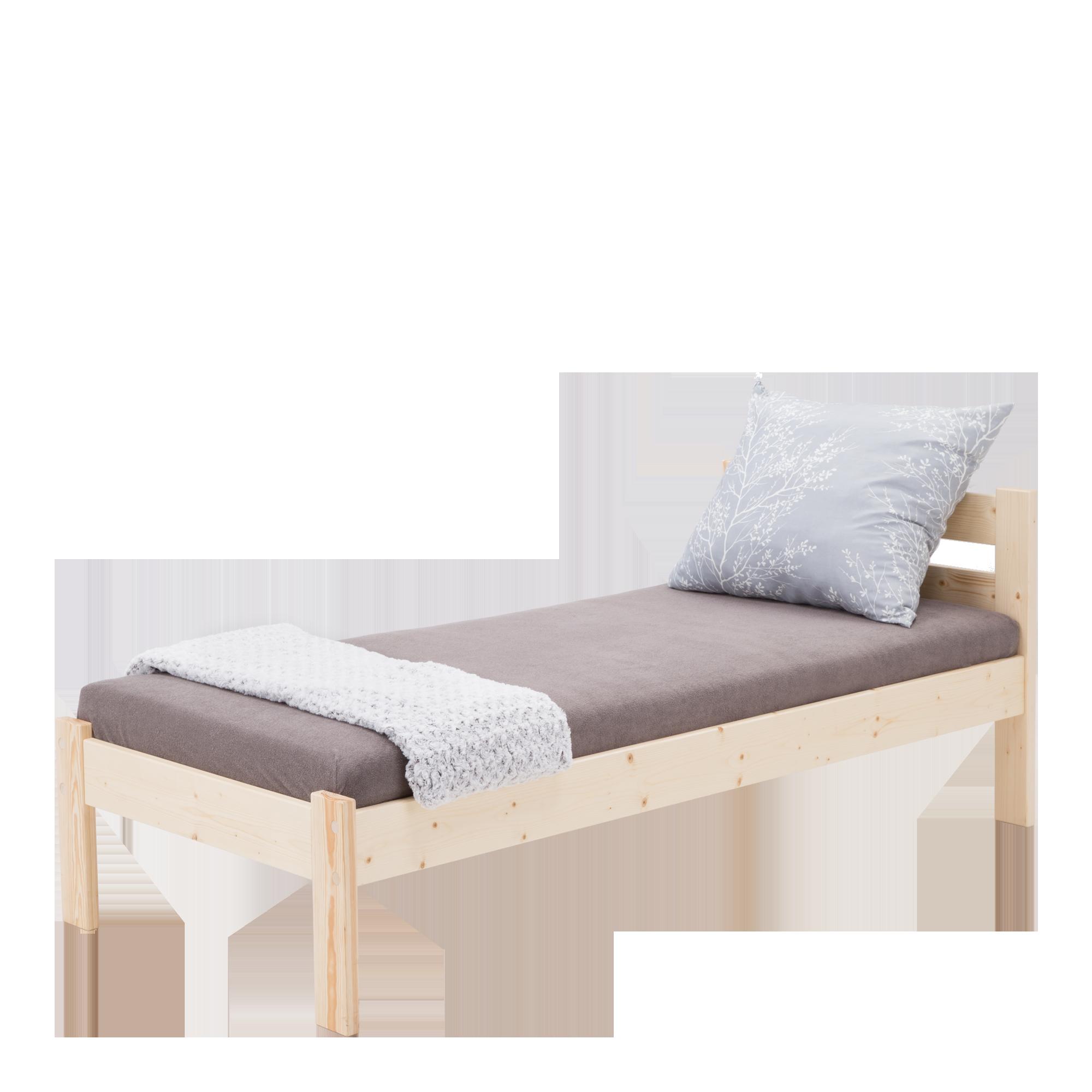 Sara łóżko 90200 Sosna Lakier Bezbarwny łóżka