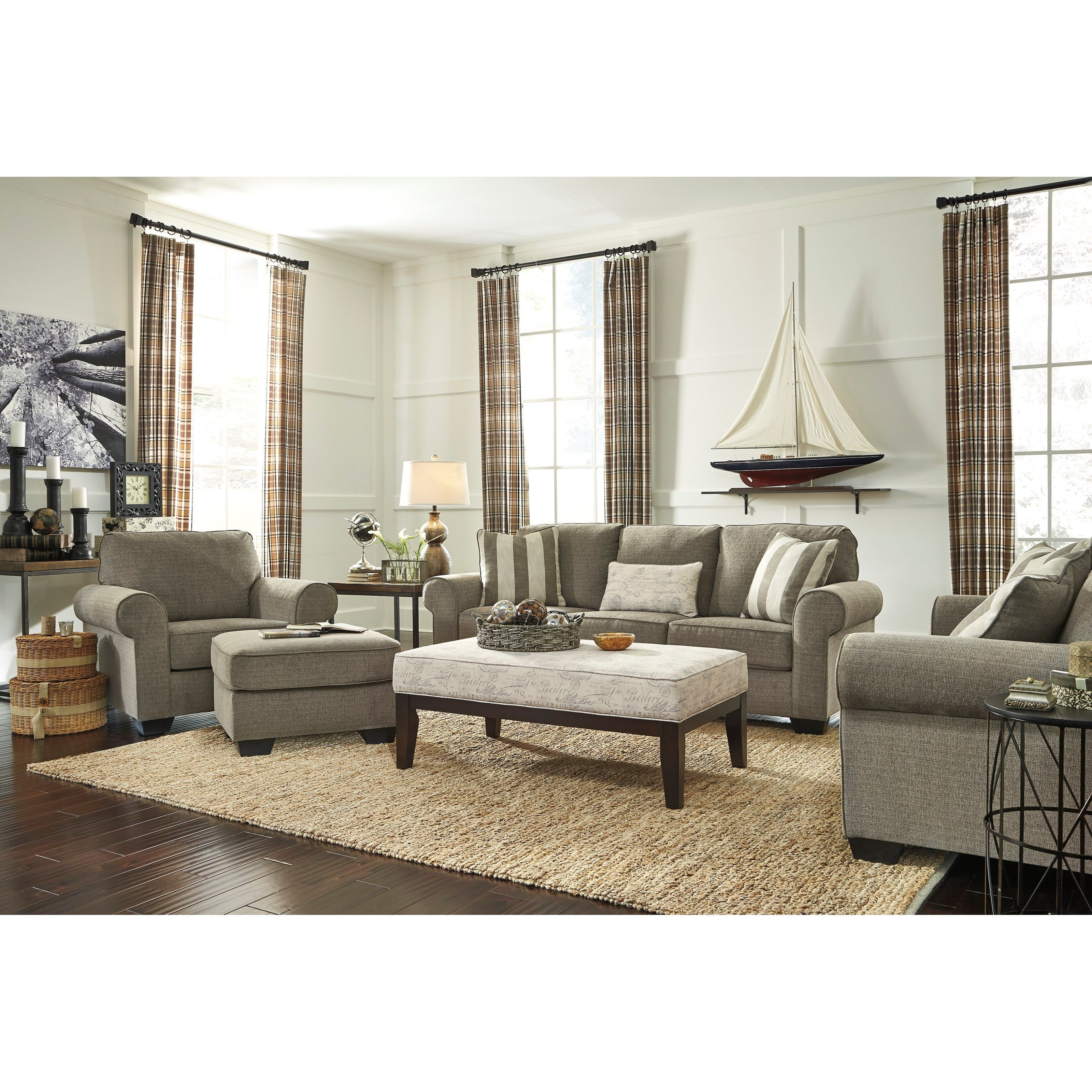 Best Baveria Stationary Living Room Group By Signature Design 400 x 300