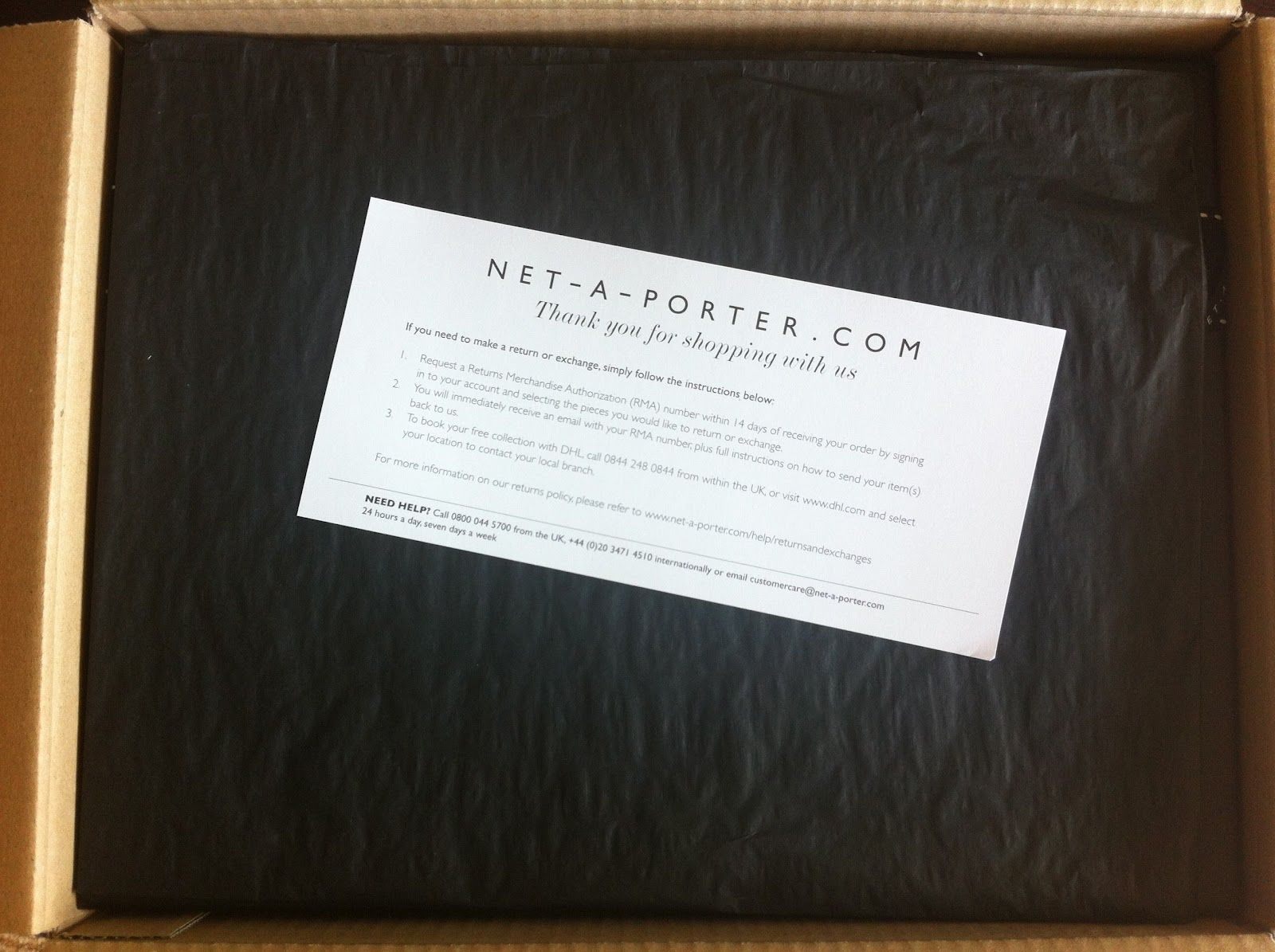 766339170b3 Net-A-Porter | Customer cards. | Ecommerce packaging, Thanks card ...