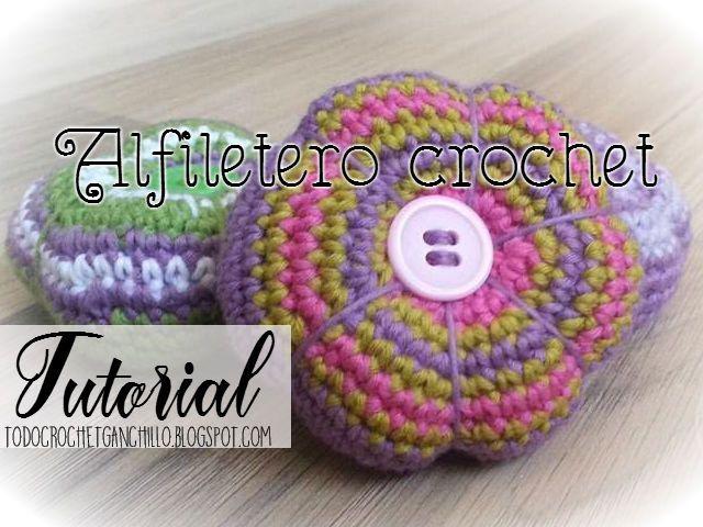 Todo crochet: Aprende a tejer un alfiletero o acerico al crochet ...