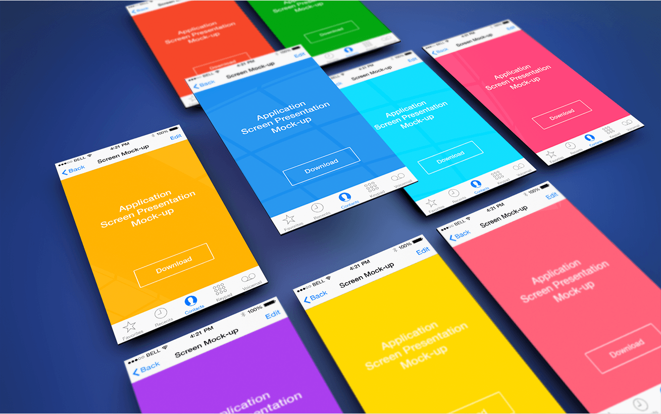 App Screen Presentation Mockups Freebies Fribly Themes For Mobile Mockup Free Psd App