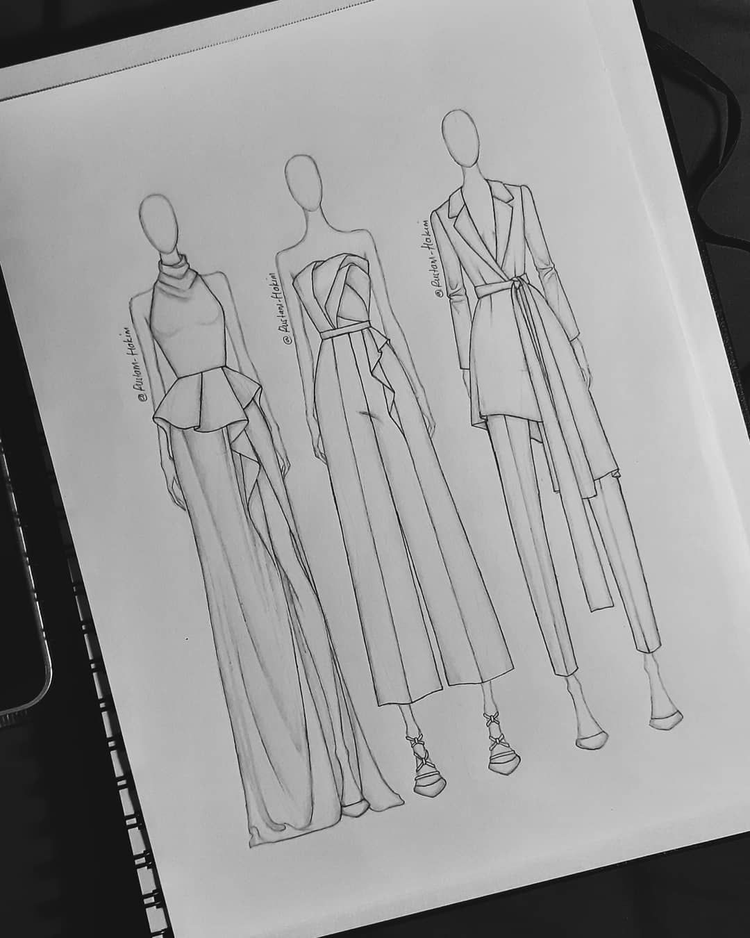 """Kim on Instagram: """"These designs inspire by Azzi & Osta ready to wear ss19 collections... ... #sketch #illustration #illustrator #fashion #design #readytowear…"""""""