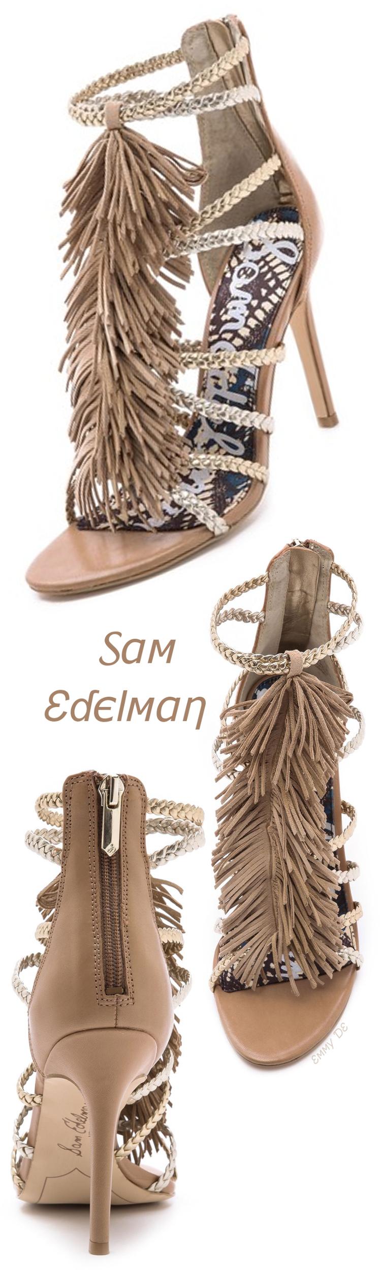 d223388f62f2 Emmy DE   Sam Edelman Savannah Fringe Gladiator Heels