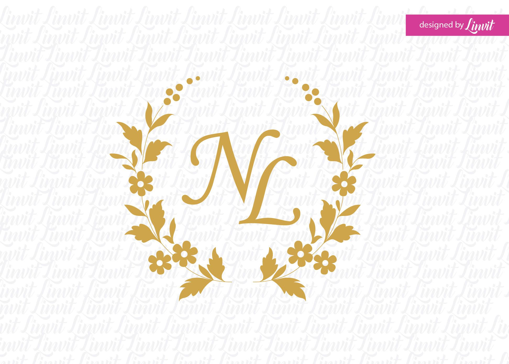 Floral Wreath Logo Wedding Crest Wedding Wreath Diy Wedding Etsy In 2020 Wedding Logos Monogram Wedding Diy Wedding Wreath