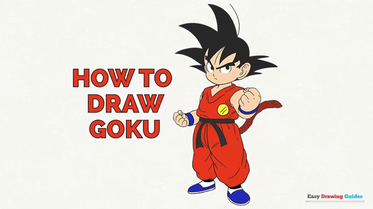 Learn How To Draw Goku Easy Step By Step Drawing Tutorial For Kids And Beginners Goku Drawingtutorial Goku Drawing Drawing Tutorials For Kids Easy Drawings