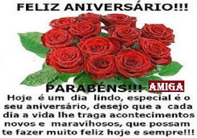 Mensagem De Aniversario Para Amiga Com Flores Lindas E Vermelhas
