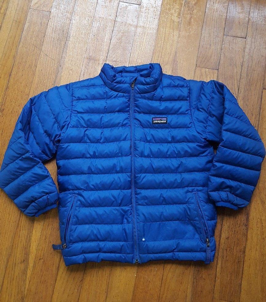 Patagonia Toddler Boy Blue Goose Down Puffer Coat Size 5T