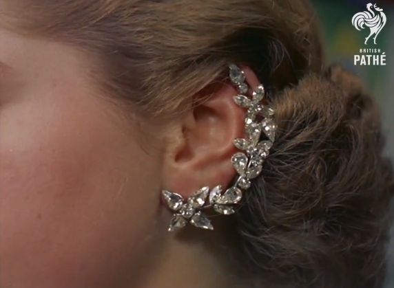 1950s Jeweled Earring That Covers The Whole Ear