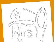 paw patrol pumpkin stencil chase for the kids paw. Black Bedroom Furniture Sets. Home Design Ideas