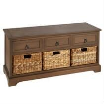 Hannah Brown 3 Drawer Basket Storage Bench