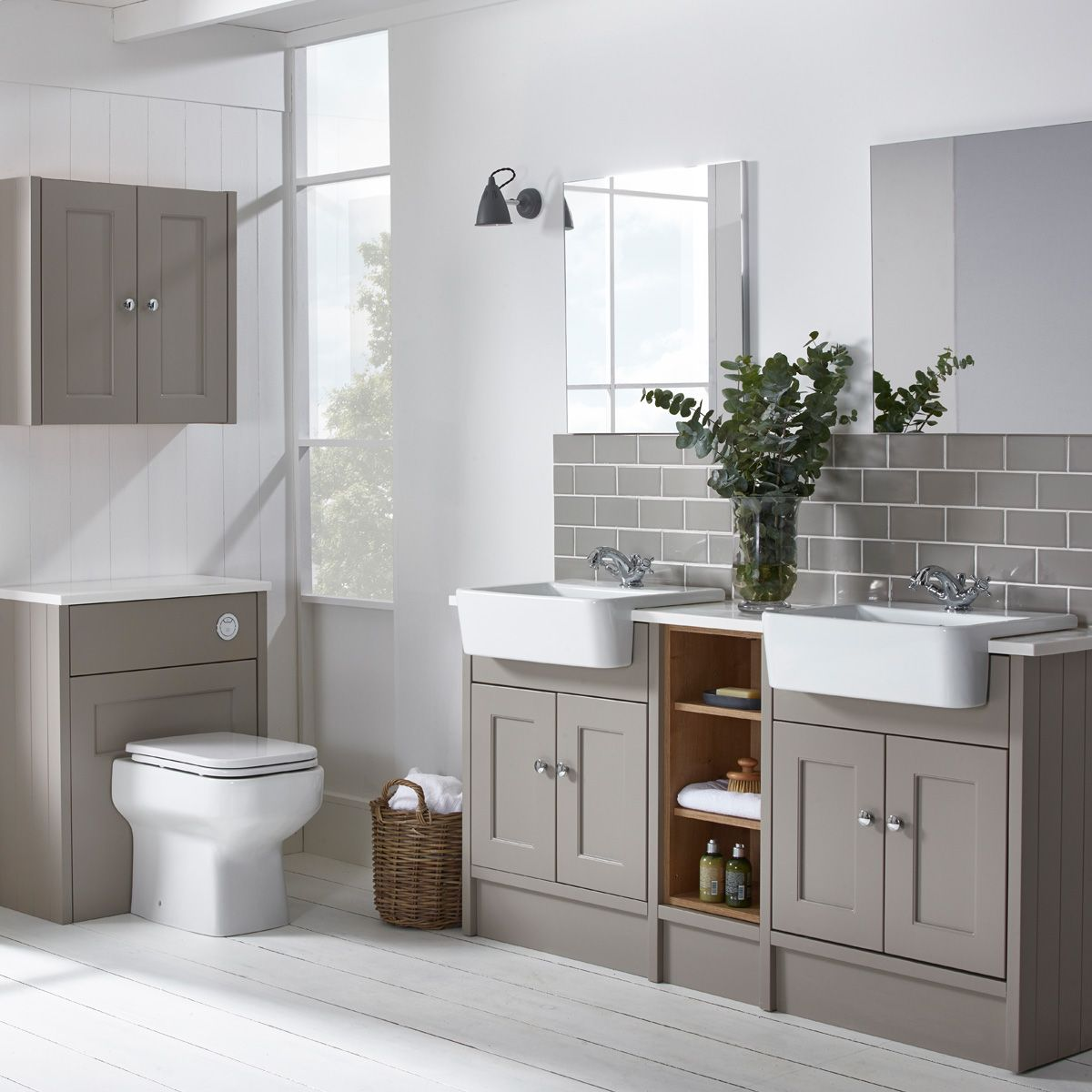 Roper Rhodes Burford Mocha His And Hers Fitted Bathroom Furniture Fitted Bathroom Bathroom Furniture