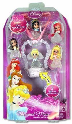 Disney Princesses Necklace Cinderella Snow White Ariel Pretty Pink Girls Gift UK