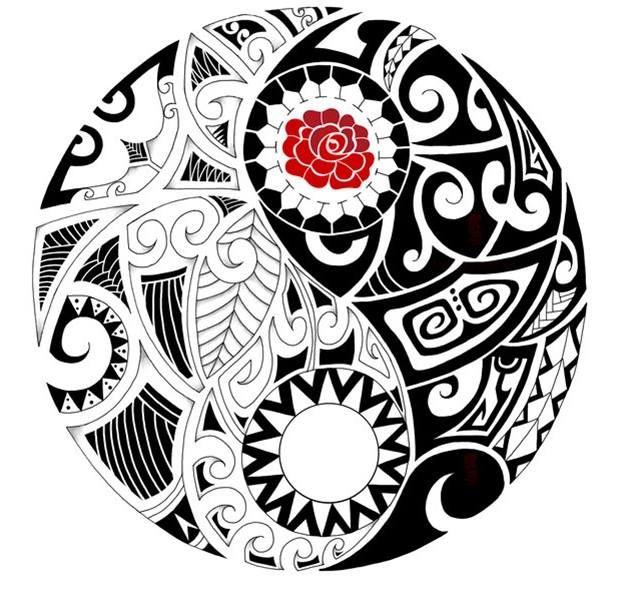 Ying Yang Maori Beautiful Things Tatouage Tatouage Ying Yang