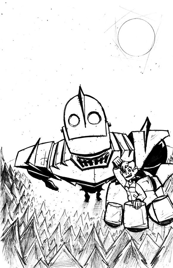 Iron Giant Tribute inks by dcjosh.deviantart.com on