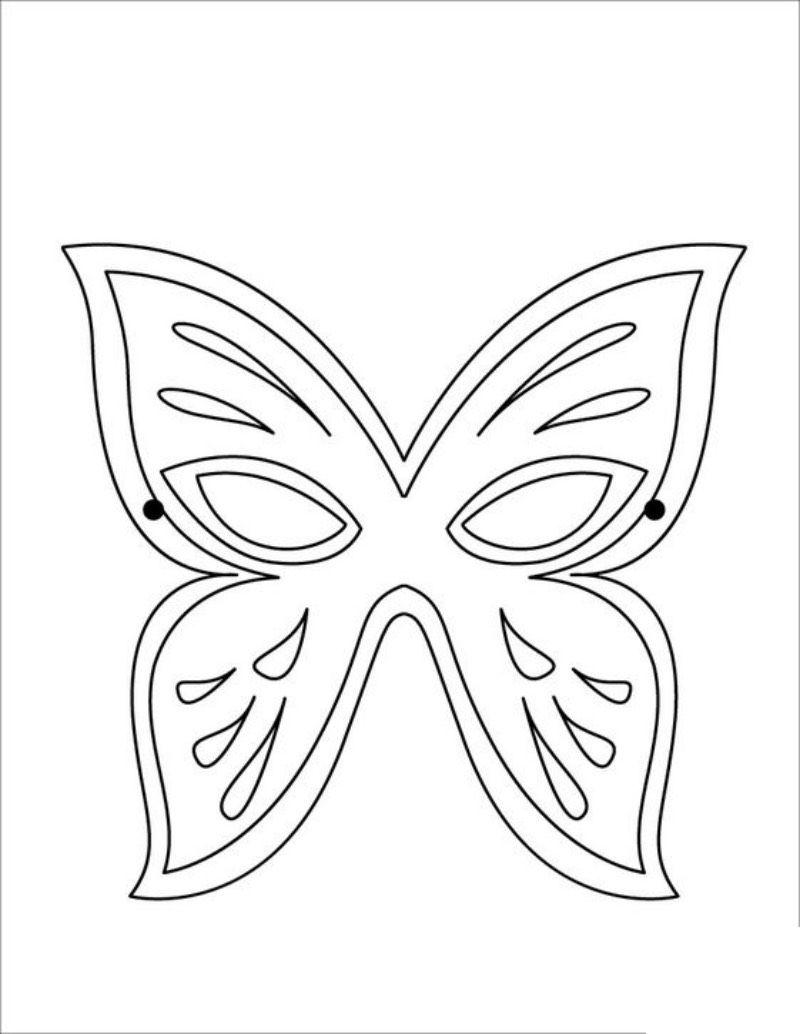 Maski Weneckie Karnawal Maski Karnawalowe Wycinanki Butterfly Mask Butterfly Coloring Page Mask Template Printable