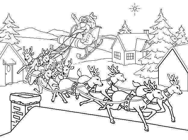 santas reindeer coloring pages google search - Santa Claus And Reindeer Coloring Pages