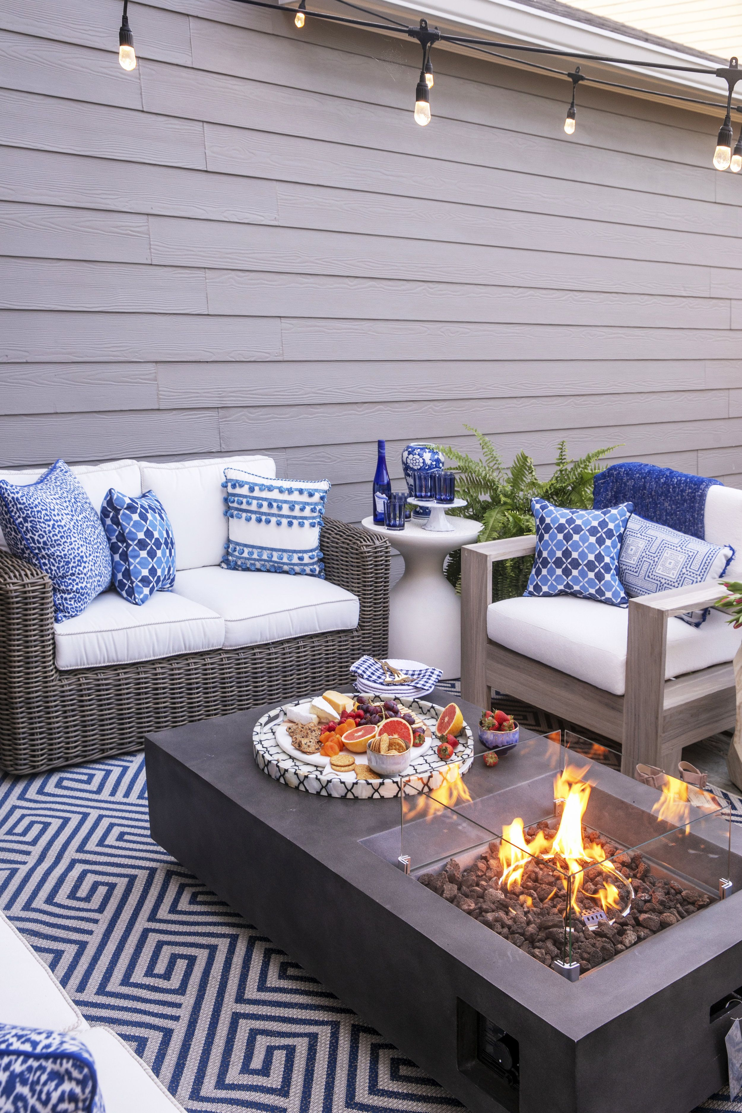Patio Makeover With Frontgate Blue Patio Furniture Patio Decor