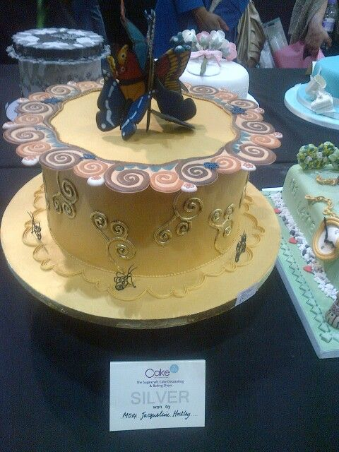 Silver award winning cake.  All Royal Icing with no supports.