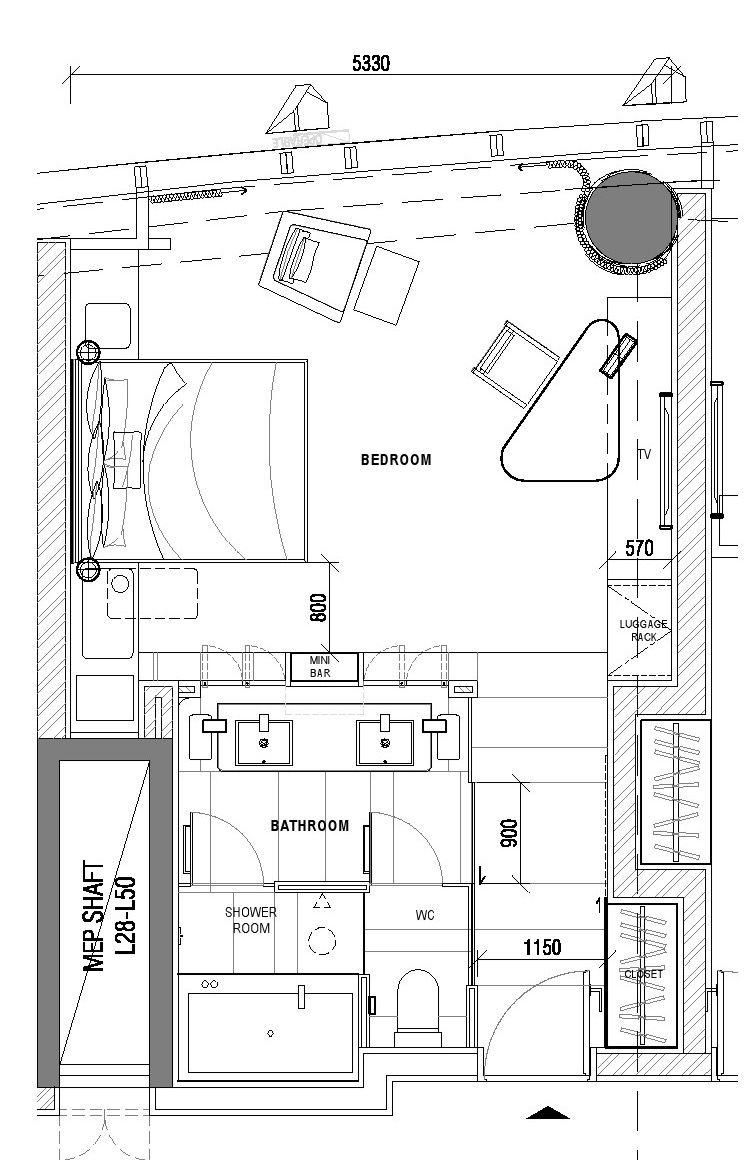 Hotel Room Plan: Hotel Floor Plan, Hotel Bedroom Design