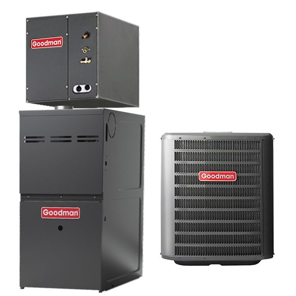 1 5 Ton A C Goodman Gsx140181 14 Seer Central Air Conditioner 40 000 Btu 80 Efficiency Ga In 2020 Central Air Conditioners Central Air Conditioning System Gas Furnace