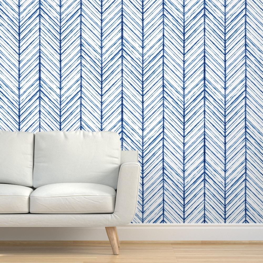Pin By Annika On Mi Removable Wallpaper Removable Wallpaper Geometric Removable Wallpaper Indigo Boho