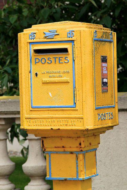 french post box les postes boite a lettre boite et la. Black Bedroom Furniture Sets. Home Design Ideas