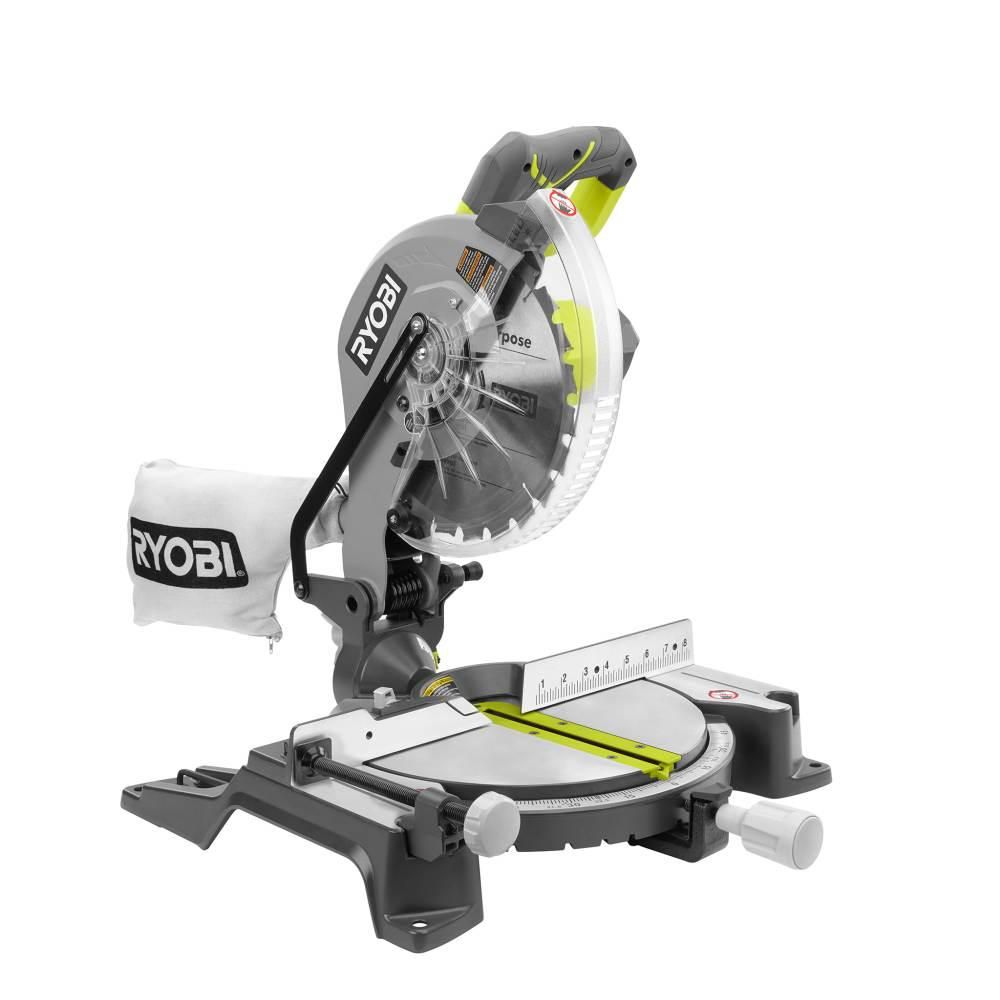 Ryobi 10 In Compound Miter Saw With Led Ts1346 Compound Mitre Saw Miter Saw Sliding Compound Miter Saw