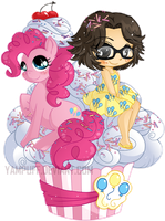 Pinkie Pie Cupcake Commission by YamPuff
