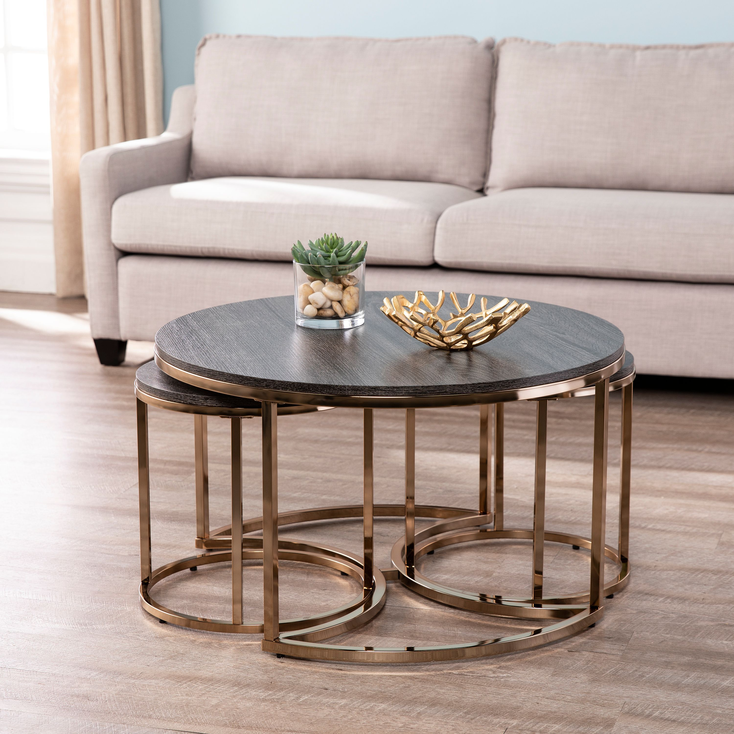 Lokyle Round Nesting Coffee Tables 3pc Set Glam Champagne By Ember Interiors Walmart Com In 2021 Nesting Coffee Tables Round Nesting Coffee Tables Living Room Table Sets [ 3000 x 3000 Pixel ]