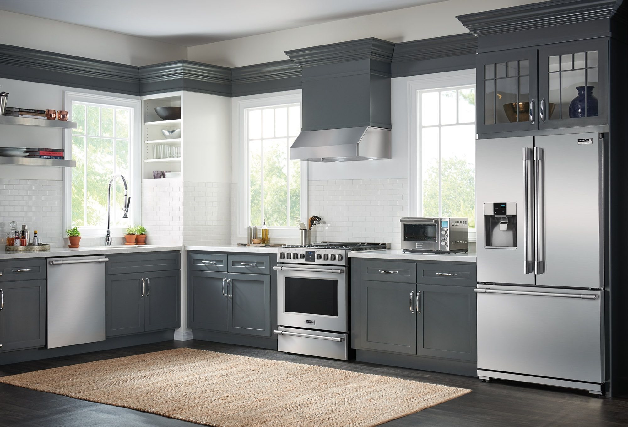 professional kitchen appliances white cabinets and backsplash take your to another level with frigidaire receive a 500 mail in rebate through november 30th