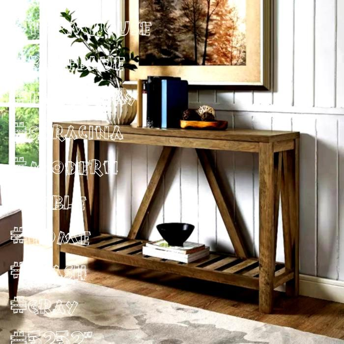 Modern Farmhouse Entryway Table Gray Wash  Saracina Home Gray Blueblue52 Modern Farmhouse Entryway Table Gray Wash  Saracina Home Gray Blueblue Diy Bookcase Guidelines Th...