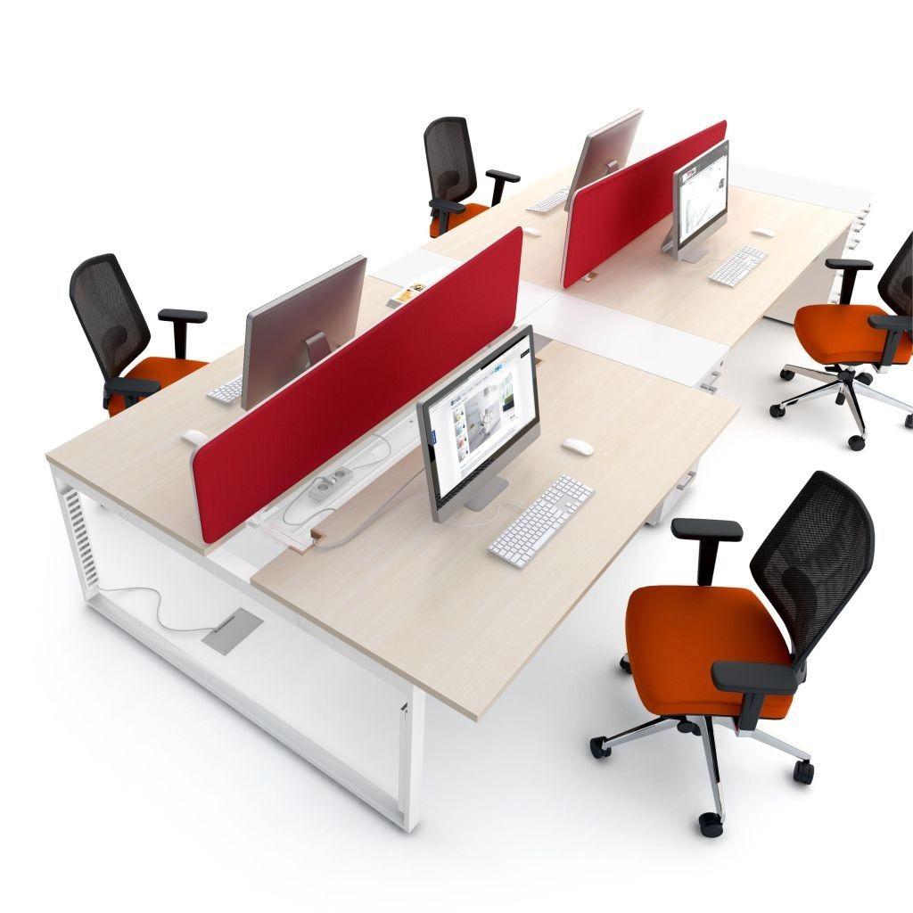 Teamarbeitsplatz Goar 4er Schiebeplatten Schreibtischideen