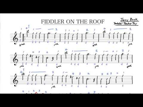 (49) Fiddler on The Roof Violin Sheet Music and Tabs
