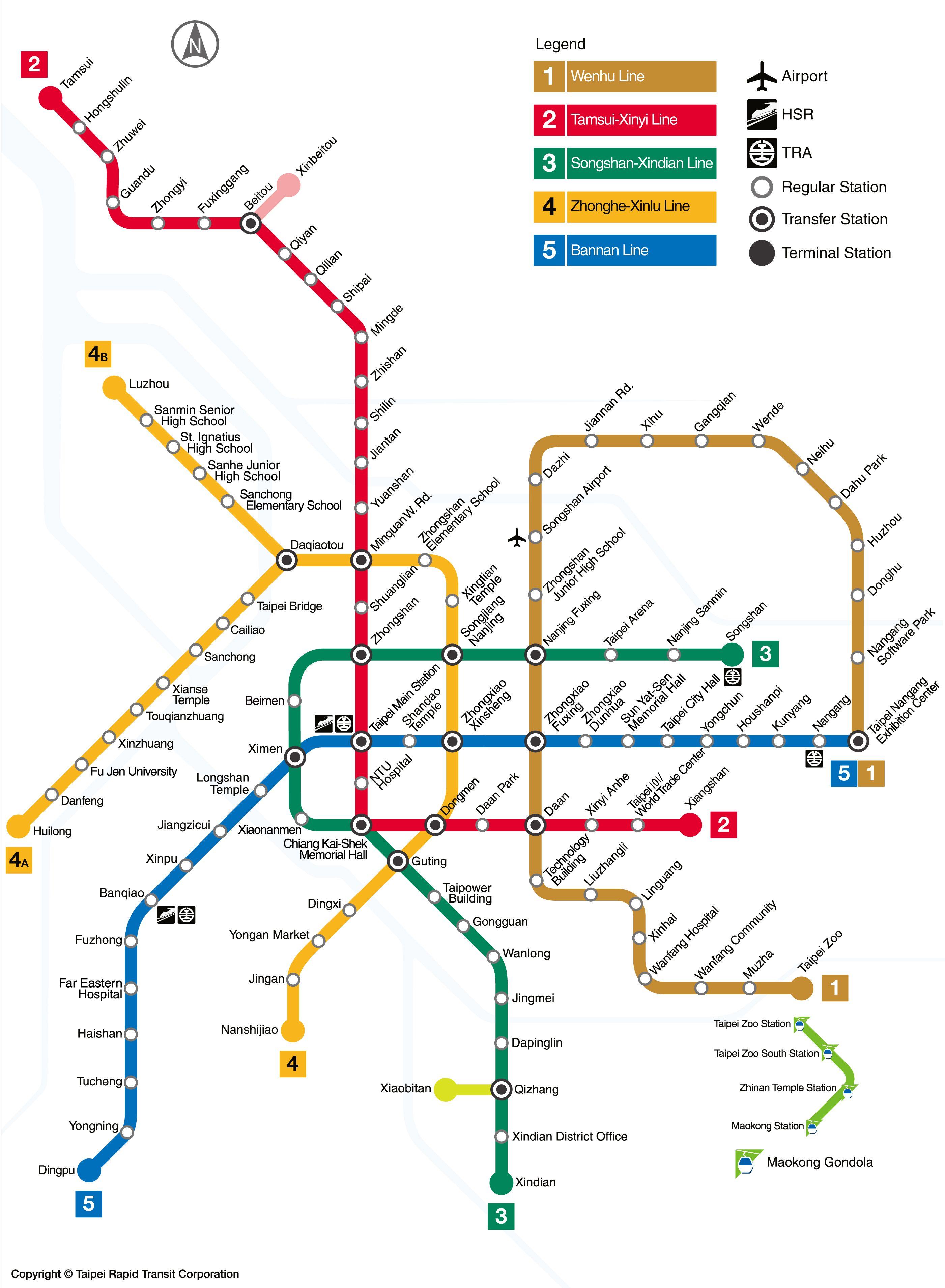 Taipei Mrt Map Metro of Taipei | Taipei | Taipei travel, Taipei metro, Taiwan travel