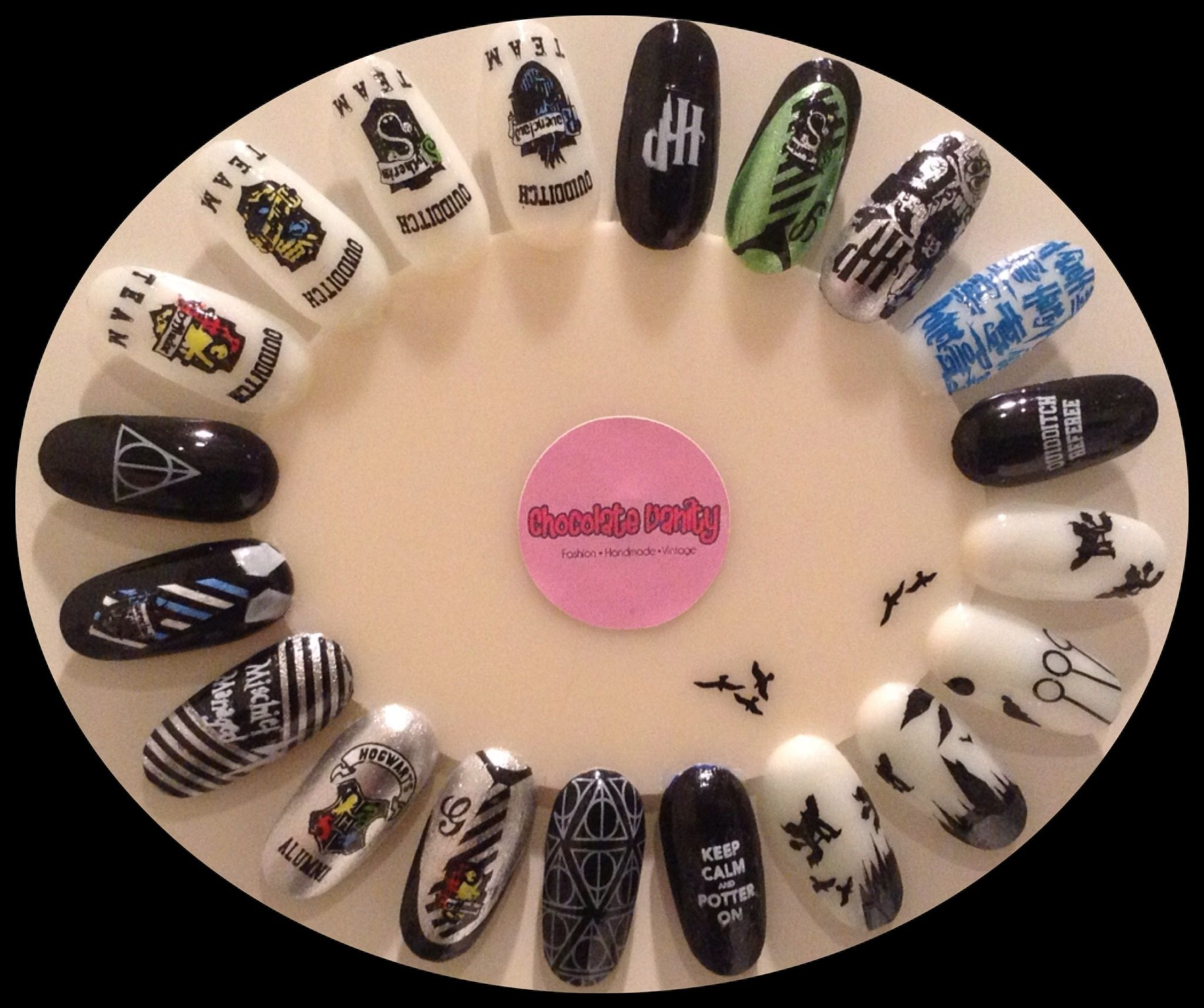 Harry Potter Hp Nail Stamping Plate Ww Harry Potter Nails Harry Potter Nail Art Harry Potter Nails Designs
