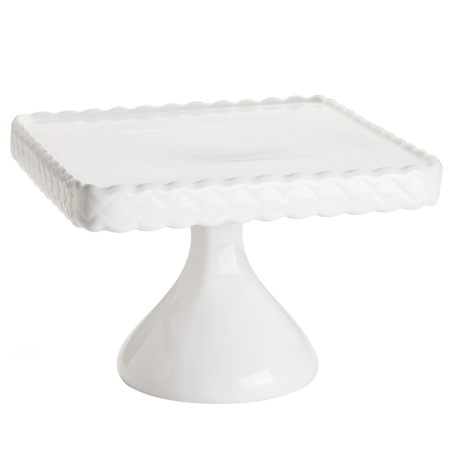 Rosanna Decor Bon White Footed Square Cake Stand Laylagrayce Entertaining Gifts 75 00 Holiday Pinterest