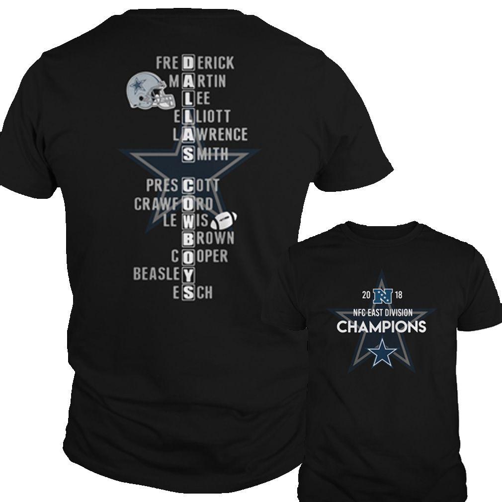 d41823e28 Dallas Cowboys 2018 NFC east division Champions shirt