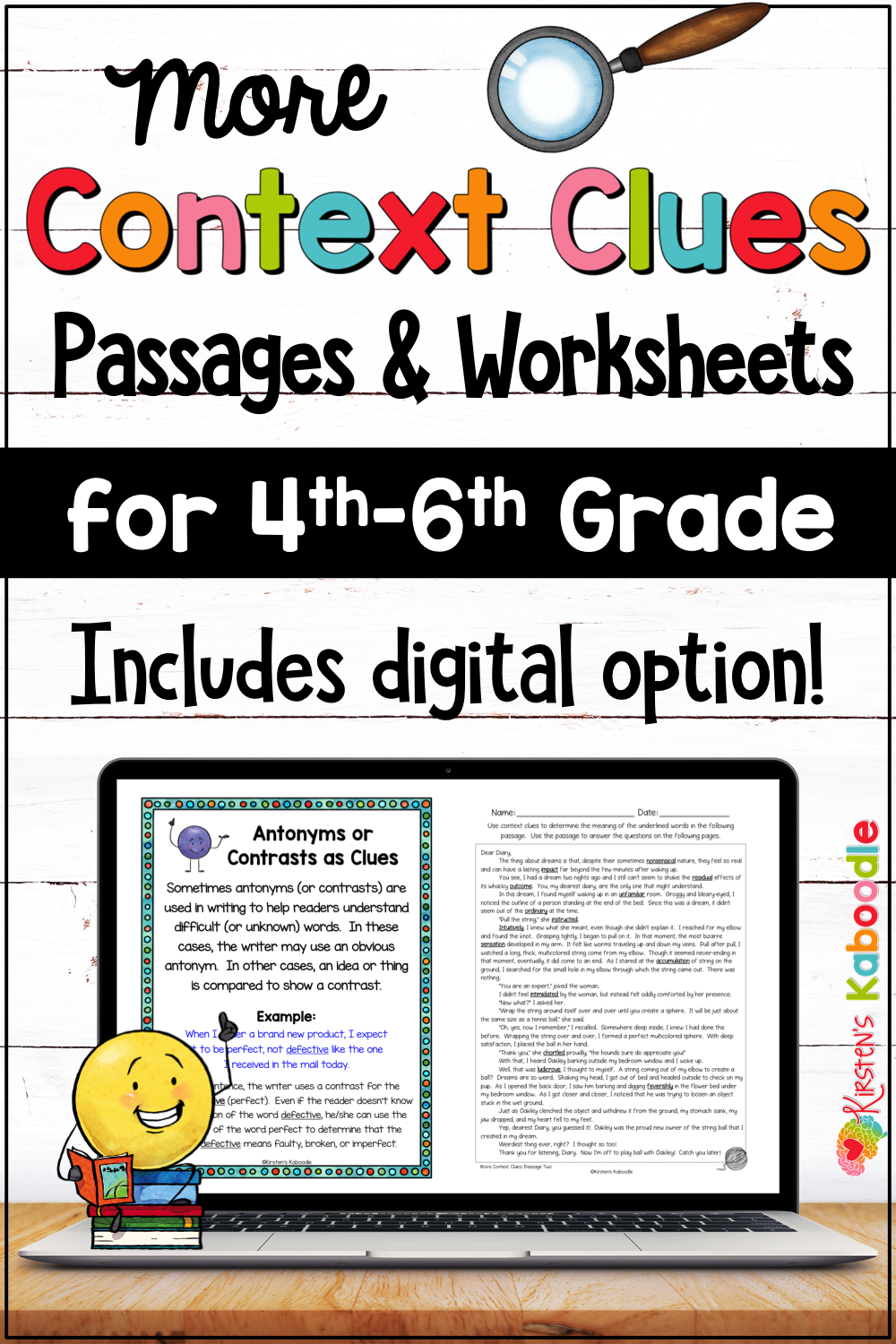 Context Clues Activities And Passages For 4th 5th And 6th Grade With Digital Option Context Clues Activities Context Clues Passages Context Clues [ 1500 x 1000 Pixel ]