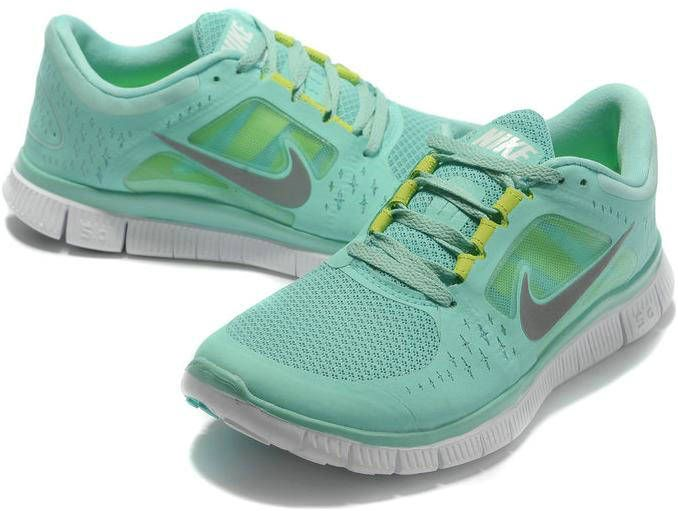 Femmes Nike Free Run + 3 Chaussures Gris Turquoise