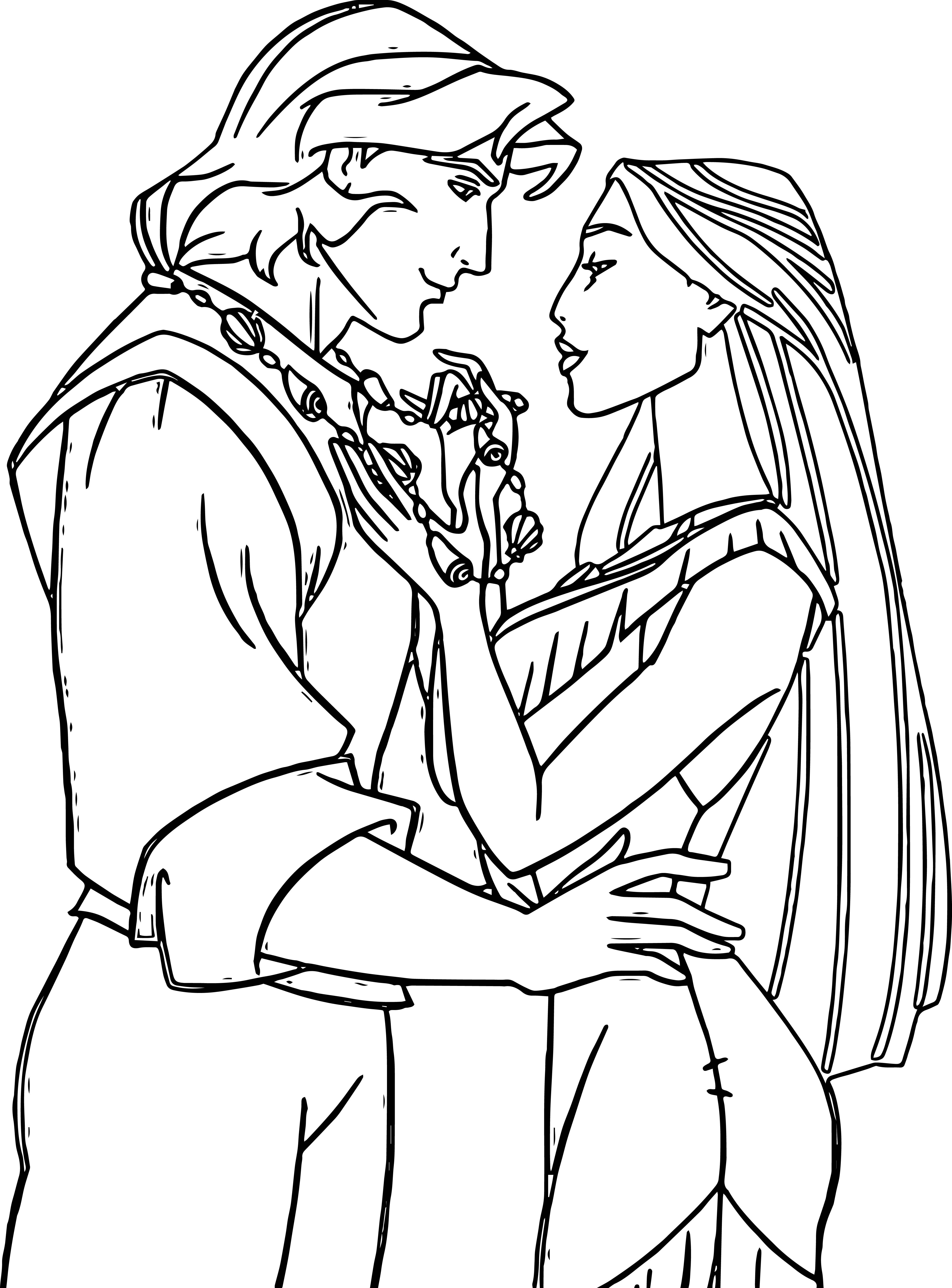 Pocahontas Coloring Pages Color sheets