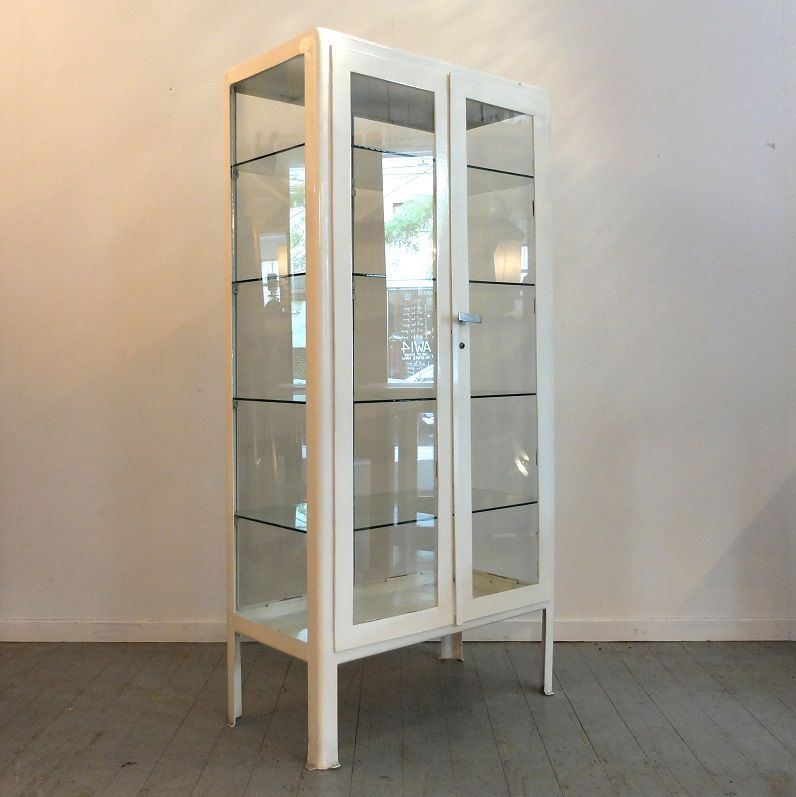 White Metal Medical Cabinet 3 Doctor Medicine