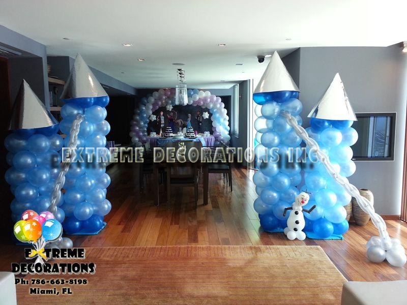 frozen decorations frozen party decorations balloon castle - Blue Castle Decor