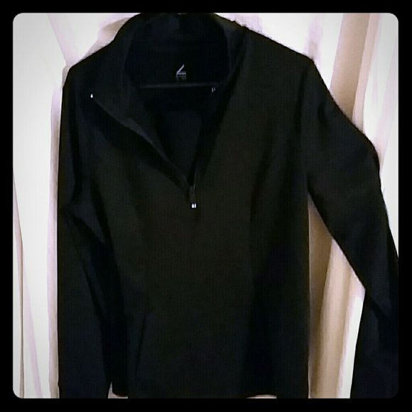 Black half zip track top Stand up collar with front pouch pocket Zella Other